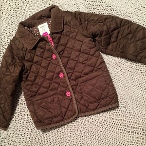 GUC 3T Old Navy Brown Lined Puffer Coat